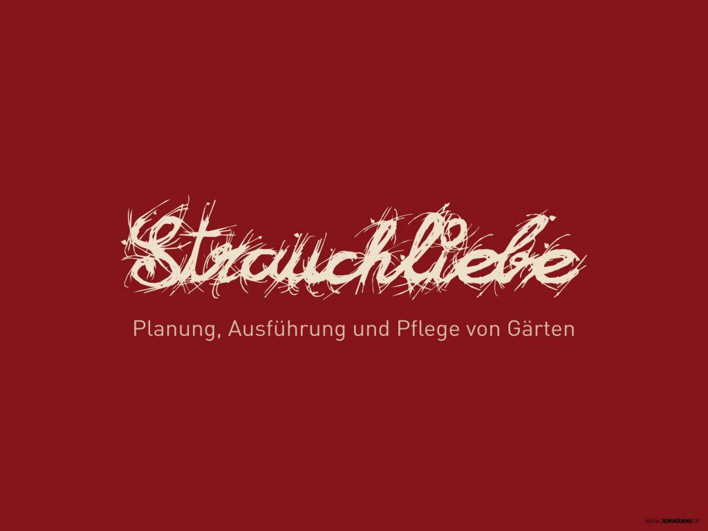 Strauchliebe Landschaftsgärtner Logo Entwicklung